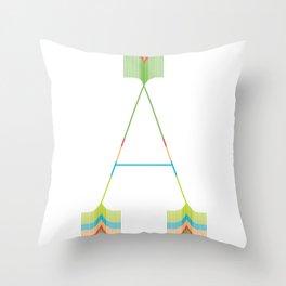 An A Throw Pillow