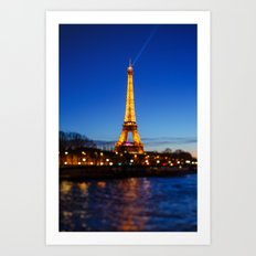 Eiffel Tower and Bokeh. Art Print