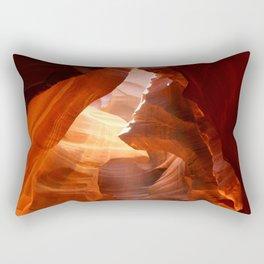 A Canyon Sculptured By Water Rectangular Pillow