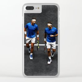 Nadal and Federer Doubles Clear iPhone Case