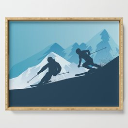 Let's Ski • Winter Sport • Christmas Special Serving Tray