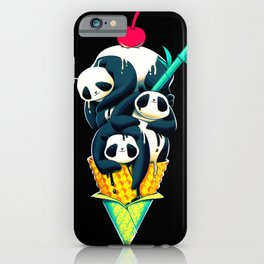 Panda Ice Cream iPhone Case