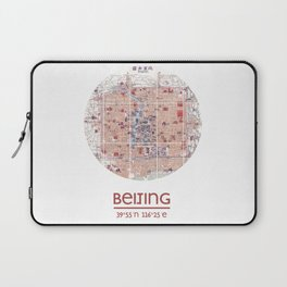BEIJING CHINA - city poster - city map poster print Laptop Sleeve