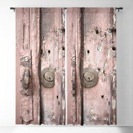 Pink Rusty Door Blackout Curtain