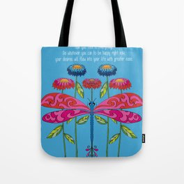 Law of Attraction Dragonfly Tote Bag