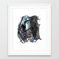 nightmare Framed Art Prints featuring Nightmare by Ju.jo.weh