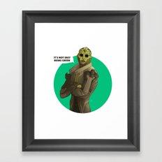 Not easy being green Framed Art Print