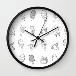 Popsicles 2 All Wall Clock
