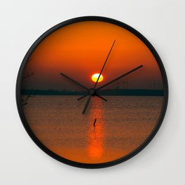 """""""Only"""" the evening sun on the water Wall Clock"""