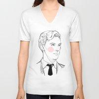 gentleman V-neck T-shirts featuring Gentleman by Sara E. Mayhew