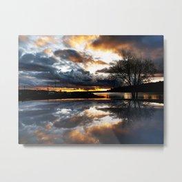 Del Mar Point Sunset Metal Print