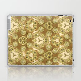 Abstract Gold Floral Laptop & iPad Skin