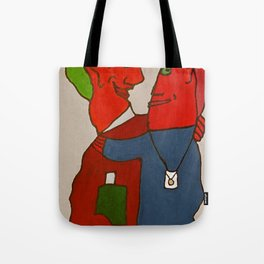 Crazy Twoheaded Woman Tote Bag
