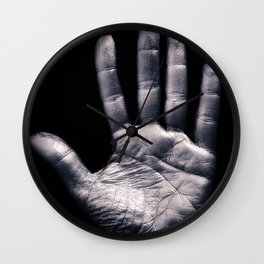 Silver hand Wall Clock