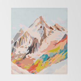 glass mountains Throw Blanket