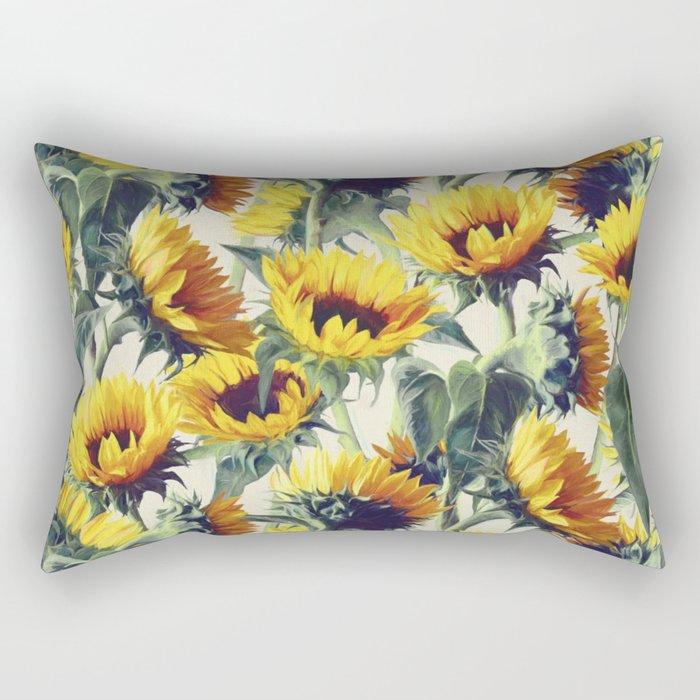 Sunflowers Forever Rectangular Pillow