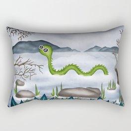 Loch ness moster Rectangular Pillow