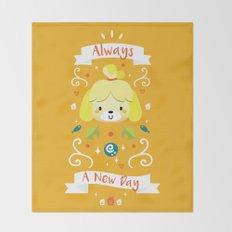 Animal Crossing: Isabelle Throw Blanket