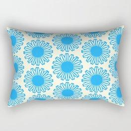 Vintage Flower_Turquoise Rectangular Pillow