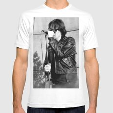Jules - The Strokes White Mens Fitted Tee MEDIUM