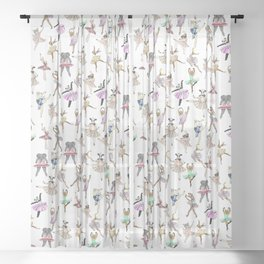 Animal Square Dance Sheer Curtain