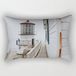 Point Reyes Lighthouse up close Rectangular Pillow