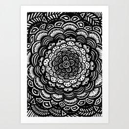 Mandala Zentangle (abstract doodle) Art Print