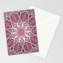 mandala purple Stationery Cards
