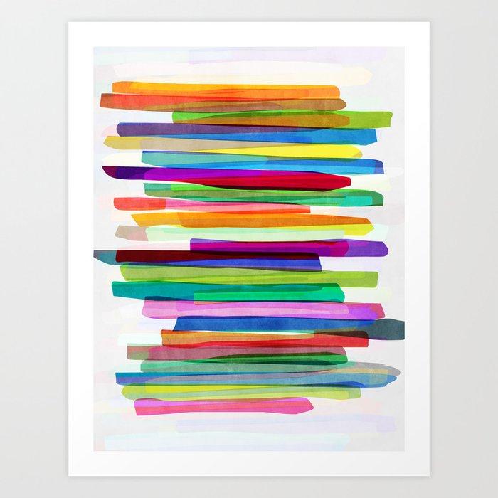 Colorful Stripes 1 Art Print