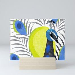 Pretty Peacock Mini Art Print