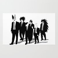 reservoir dogs Area & Throw Rugs featuring Reservoir Enemies by ddjvigo