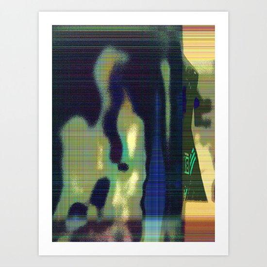 Shadows and Signs Art Print