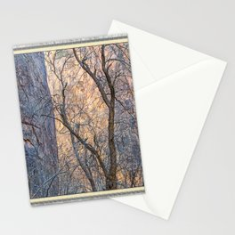 WARM WINTER WALLS OF ZION CANYON Stationery Cards