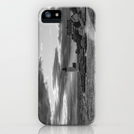 Annisquam Lighthouse Black and white iPhone Case