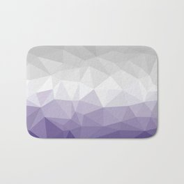 ultra violet and grey polygon Bath Mat