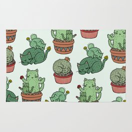 Cacti Cat pattern Rug