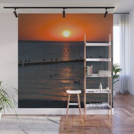 Holy sunset on the Baltic Sea Wall Mural