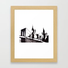 Brooklyn Bridge.. Framed Art Print