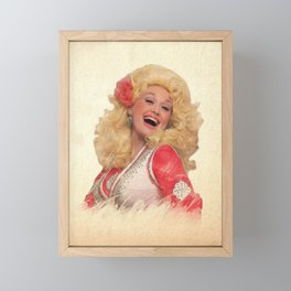 Dolly Parton - Watercolor Framed Mini Art Print