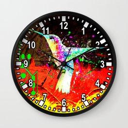 digital hummingbird & (germany Flag) Wall Clock