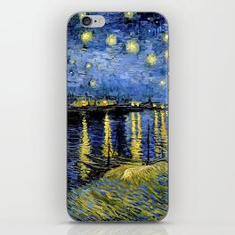 Van Gogh Starry Night Over the Rhône iPhone Skin