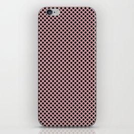 Bridal Rose and Black Polka Dots iPhone Skin
