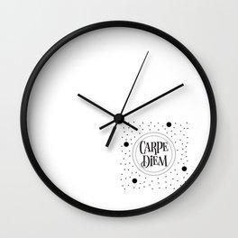 Carpe Diem in Circles Wall Clock