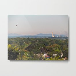 Balloon over Westbrook Metal Print