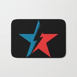 Bowie Star black Bath Mat