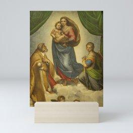 "Raffaello Sanzio da Urbino ""Sistine Madonna"", 1513-1514 Mini Art Print"