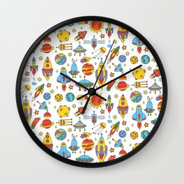 Outer space cosmos pattern Wall Clock