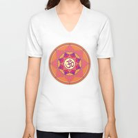 ohm V-neck T-shirts featuring Ohm by TypicalArtGuy