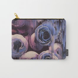 Floral Glitches Carry-All Pouch