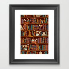 Bookshelf Framed Art Print